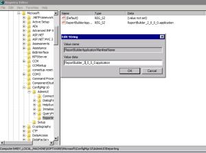 "SCCM ""Report Builder click-once application error"" when"
