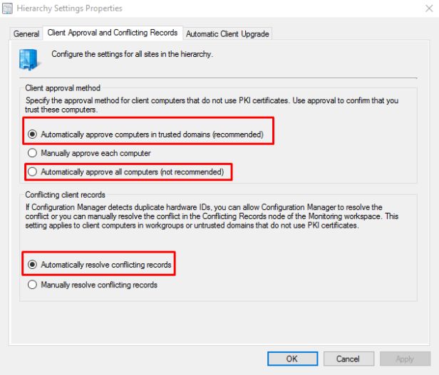 SCCM Clients not Auto Approving [Resolved] – SC Joe